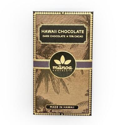 Manoa Chocolate, 70% Dark Chocolate Bar (1.8 Oz.)
