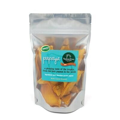 Dried Fruit, Hawaii Grown Flavors - Papaya (2 Oz.)