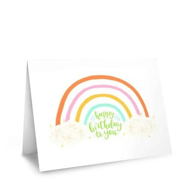 Card, Birthday - Rainbow (Nicomade)