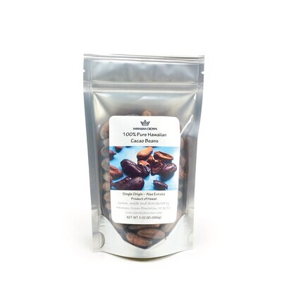 Hawaiian Crown, Cacao Beans (3 Oz.)