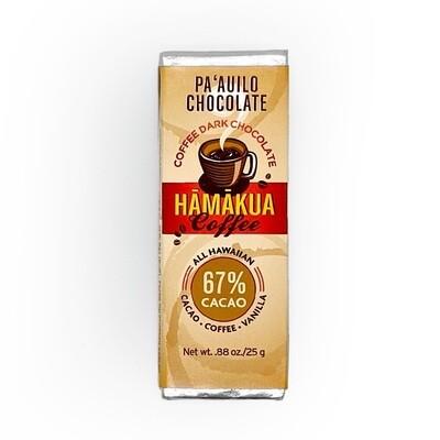 Paauilo Chocolate, 67% Coffee Chocolate Bar (0.88 Oz.)