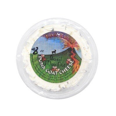 Cheese, Lava Rock Dairy - Chevre Basil Macnut (5 Oz.)