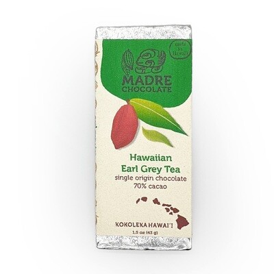Madre Chocolate, 70% Earl Grey Chocolate Bar (1.5 Oz.)
