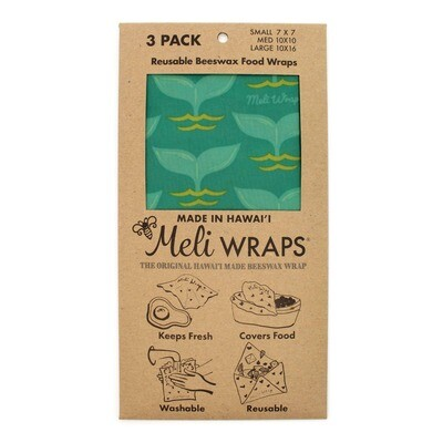 Meli Wraps, Beeswax Food Wraps - Tails (3-Pack)