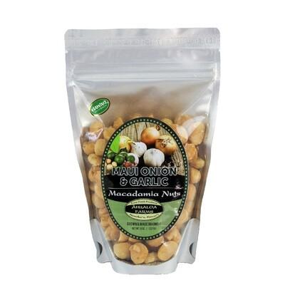 Macadamia Nuts, Ahualoa Farms - Maui Onion & Garlic (8 Oz.)