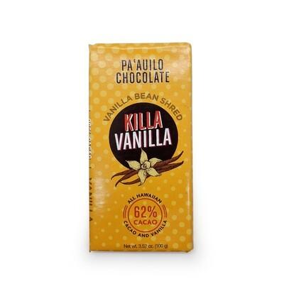 Paauilo Chocolate, 62% Large Killa Vanilla Chocolate Bar (3.52 Oz.)