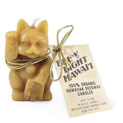 Bee Light Hawaii, Maneki Neko Beeswax Candle