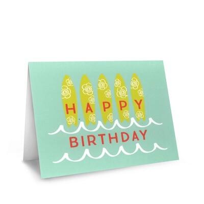 Card, Birthday - Surfboard (Nicomade)