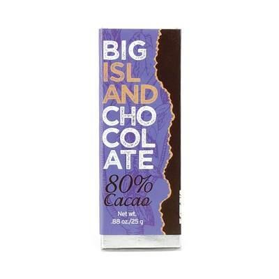 Paauilo Chocolate, 80% Dark Chocolate Bar (0.88 Oz.)
