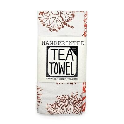 Tea Towel, A. Sham - Limu Coral (Organic Cotton)