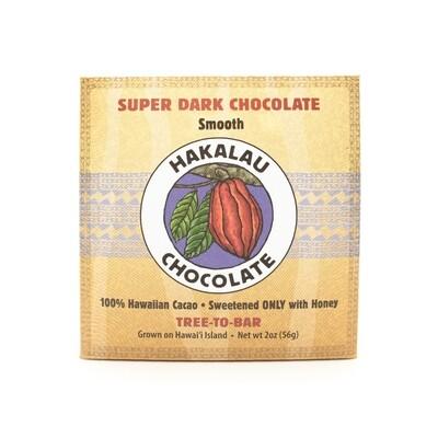 Hakalau Chocolate, Smooth Super Dark Chocolate Bar (2 Oz.)