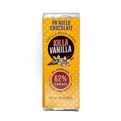 Paauilo Chocolate, 62% Killa Vanilla Chocolate Bar (0.88 Oz.)