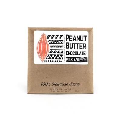 Puna Chocolate, 70% Peanut Butter Chocolate Bar (1 Oz.)