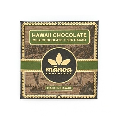 Manoa Chocolate, 50% Milk Chocolate Bar (0.7 Oz.)