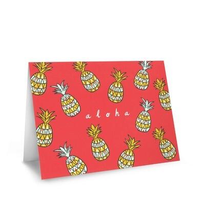 Card, Aloha - Pineapple (Nicomade)