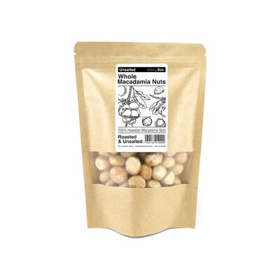 Macadamia Nuts, The Locavore Store - Unsalted (8 Oz.)