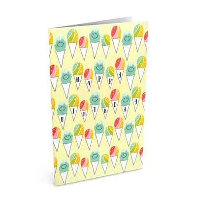 Card, Birthday - Shave Ice (Nicomade)