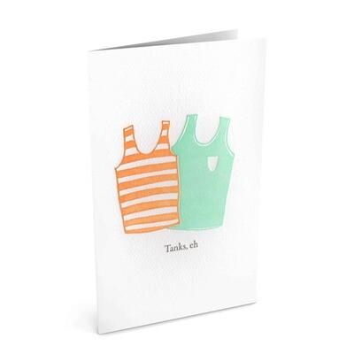 Card, Thank You - Tanks (Bradley & Lily)