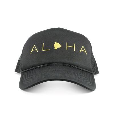 Localicreative, Aloha Gold Letter Trucker Hat