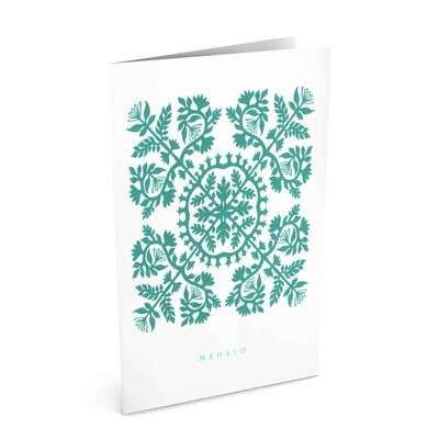 Card, Thank You - Mahalo Quilt (Nicomade)