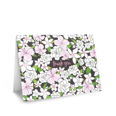Card, Thank You - Hibiscus (Nicomade)