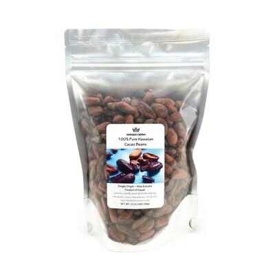 Hawaiian Crown, Cacao Beans (12 Oz.)