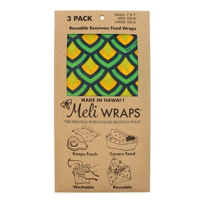 Meli Wraps, Beeswax Food Wraps - Scales (3-Pack)