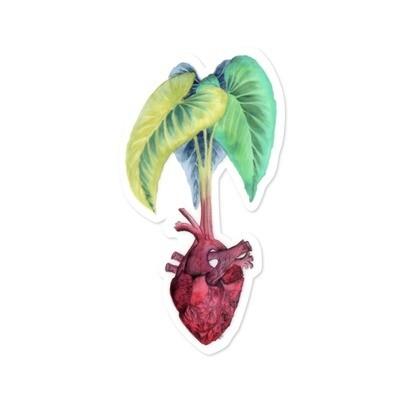 Sticker, Ashley Kaase - Taro Heart Die Cut Vinyl Sticker