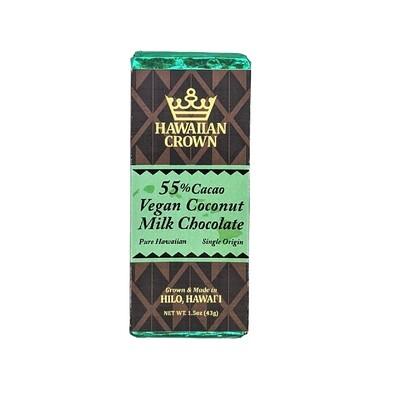 Hawaiian Crown, 55% Coconut Milk Chocolate Bar (1.5 Oz.)