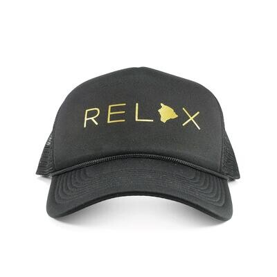 Localicreative, Relax Gold Letter Trucker Hat