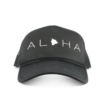 Localicreative, Aloha White Letter Trucker Hat