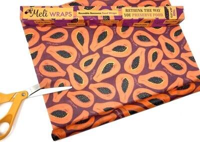 Meli Wraps, Beeswax Food Wraps Bulk Roll - Purple Papaya