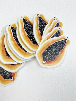 Sticker, Ashley Kaase - Papaya Die Cut Vinyl Sticker