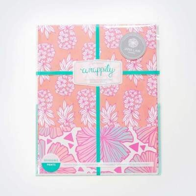 Wrappily, Pineapple Blush by Jana Lam Wrapping Paper