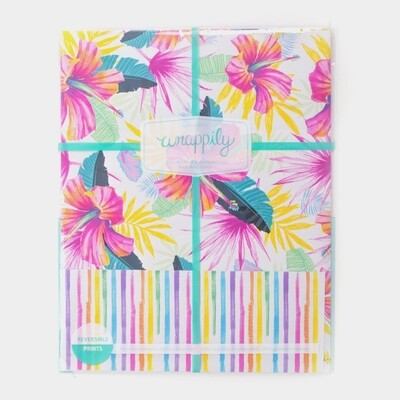 Wrappily, Hibiscus Fan Palm Wrapping Paper