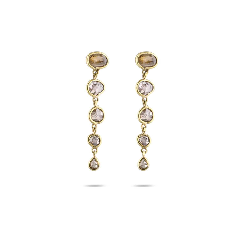 5 Diamonds River Earrings