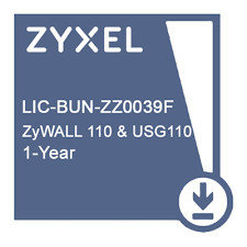 LIC-BUN,  1 YR Content Filtering/Anti-Spam/Anti-Virus Bitdefender Signature/IDP License for ZyWALL 110 & USG110