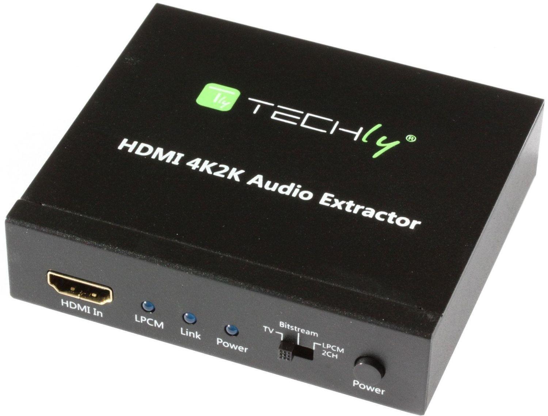 HDMI (vrouwtje) naar HDMI + 2CH LPCM AUDIO Extractor 4K 3D