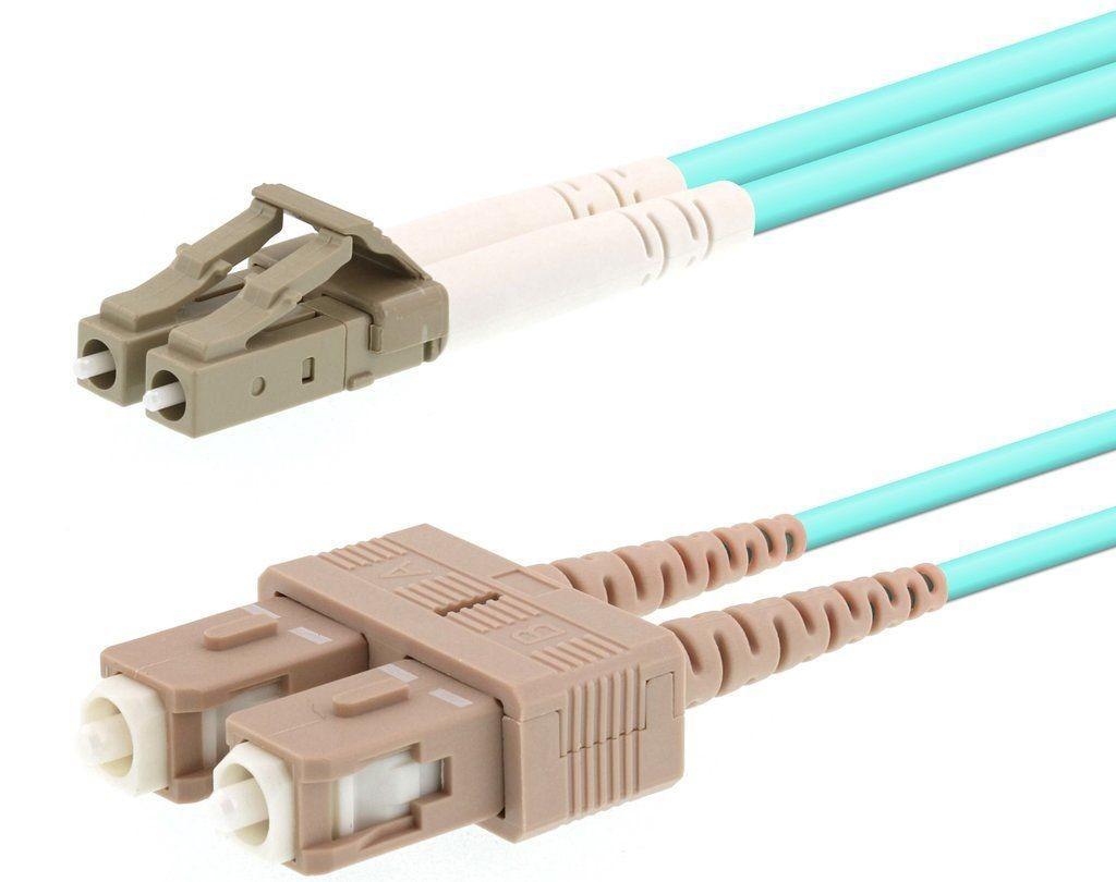 Fiber Optic Cable Mumtimode Duplex 50/125 µm OM3 (LC/SC, LC/LC, LC/ST, SC/SC)