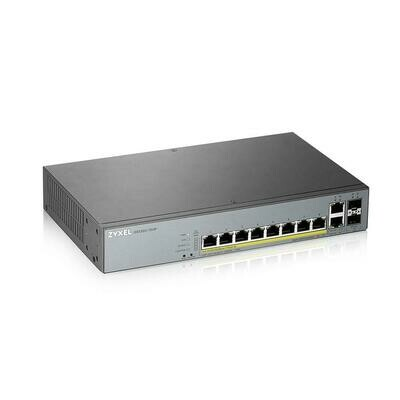 GS1350-12HP, 12 Port managed CCTV PoE switch, long range, 130W (1 year NCC Pro pack license bundled)