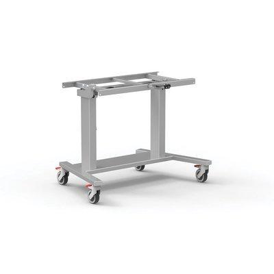 Dubbelzuils mobiele Kanteltafel aluminium - grijs