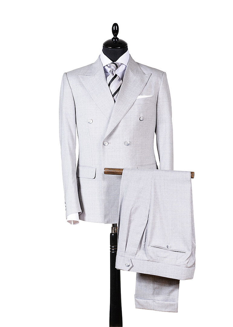 """Double breasted light-grey suit """"Tramontana"""""""