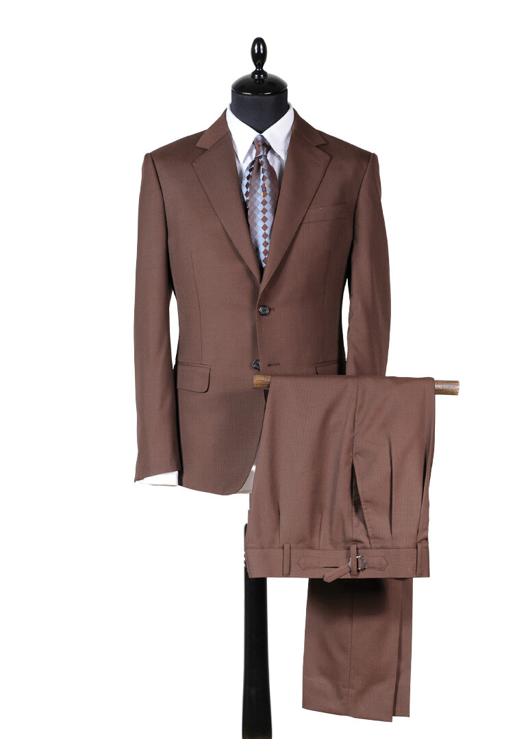 "Single breasted brown suit ""La Tierra"""