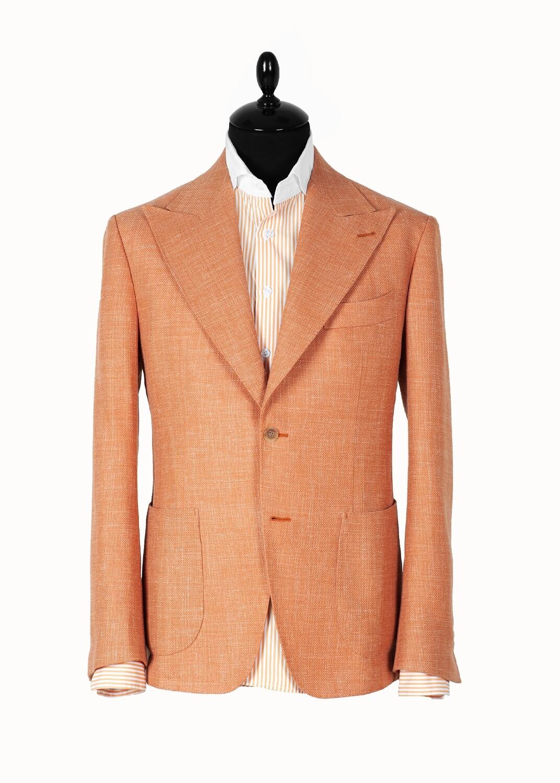 Orange single breasted suit. Havana collection