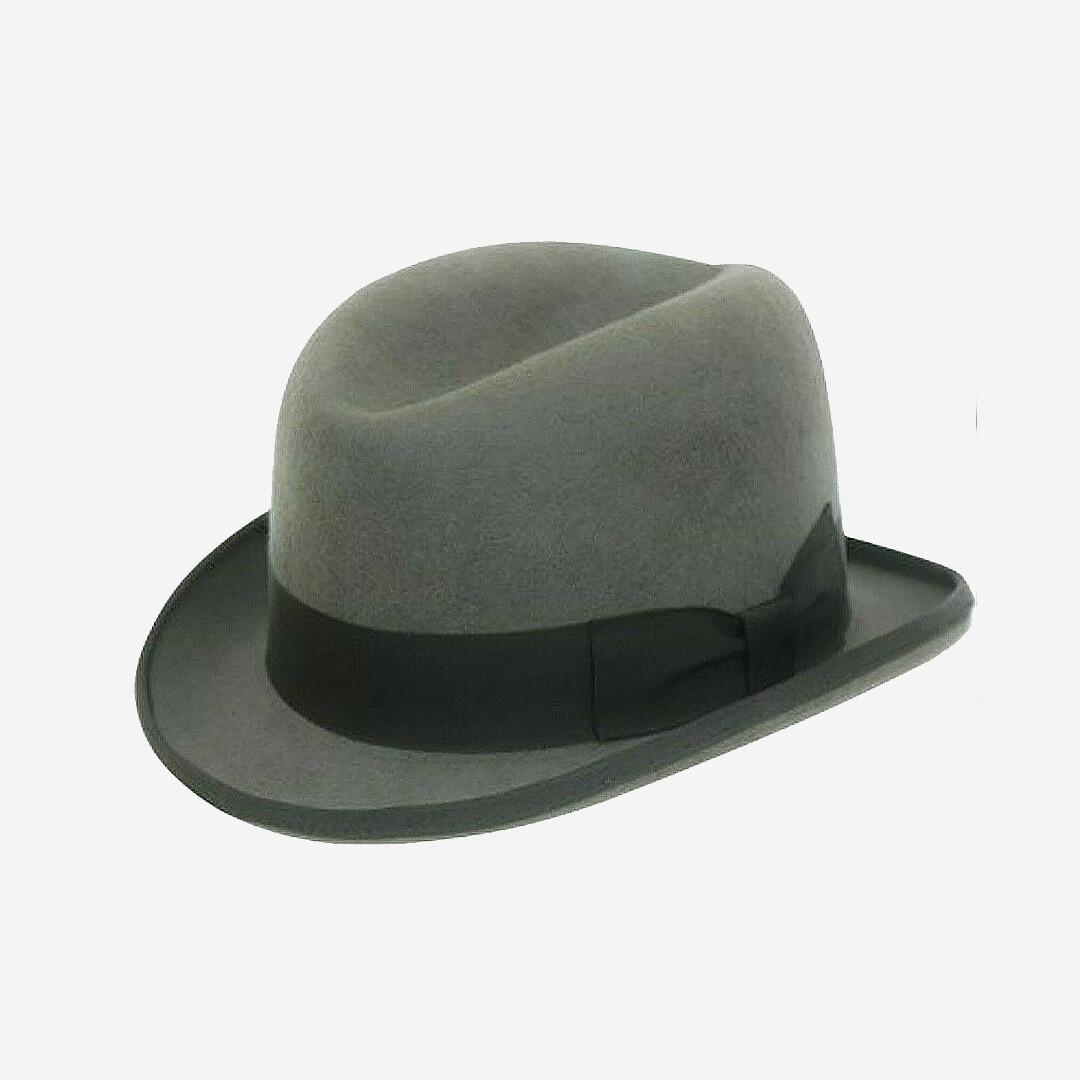 Grey Homburg Hat