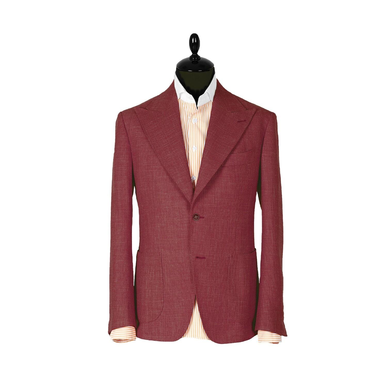 Однобортный красный пиджак. Коллекция Havana