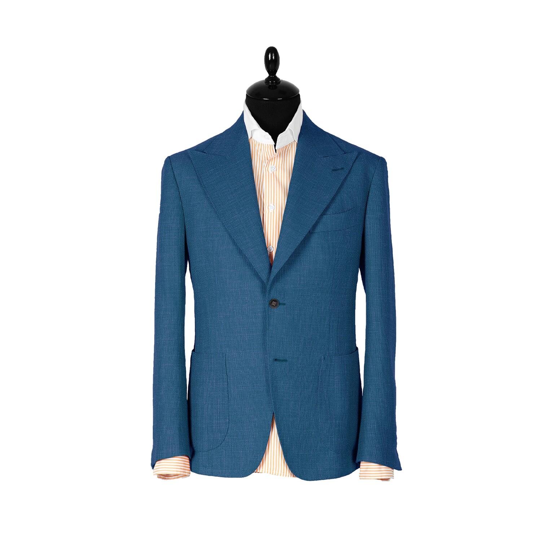 Light-blue single-breasted jacket. Havana collection