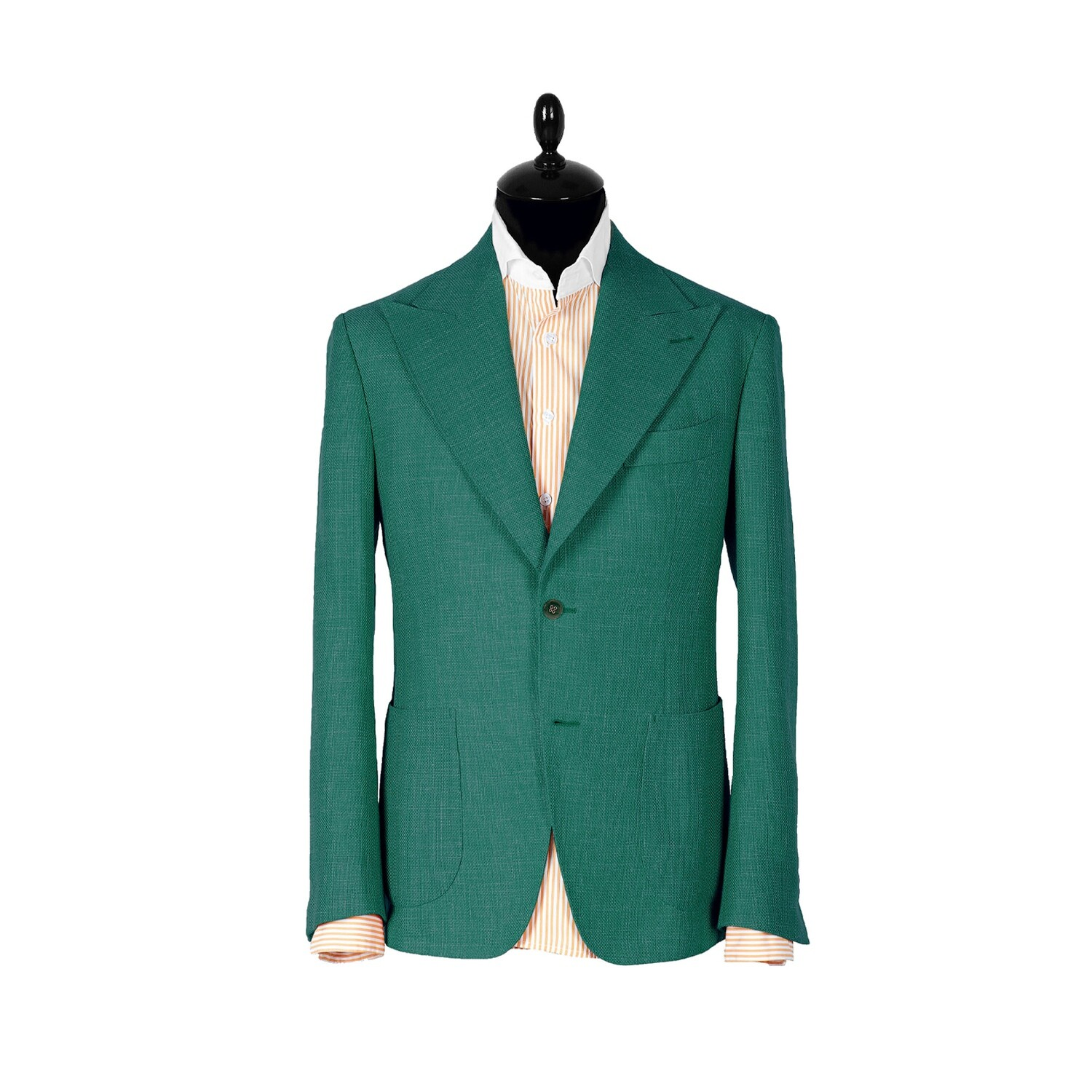 Green single-breasted jacket. Havana collection
