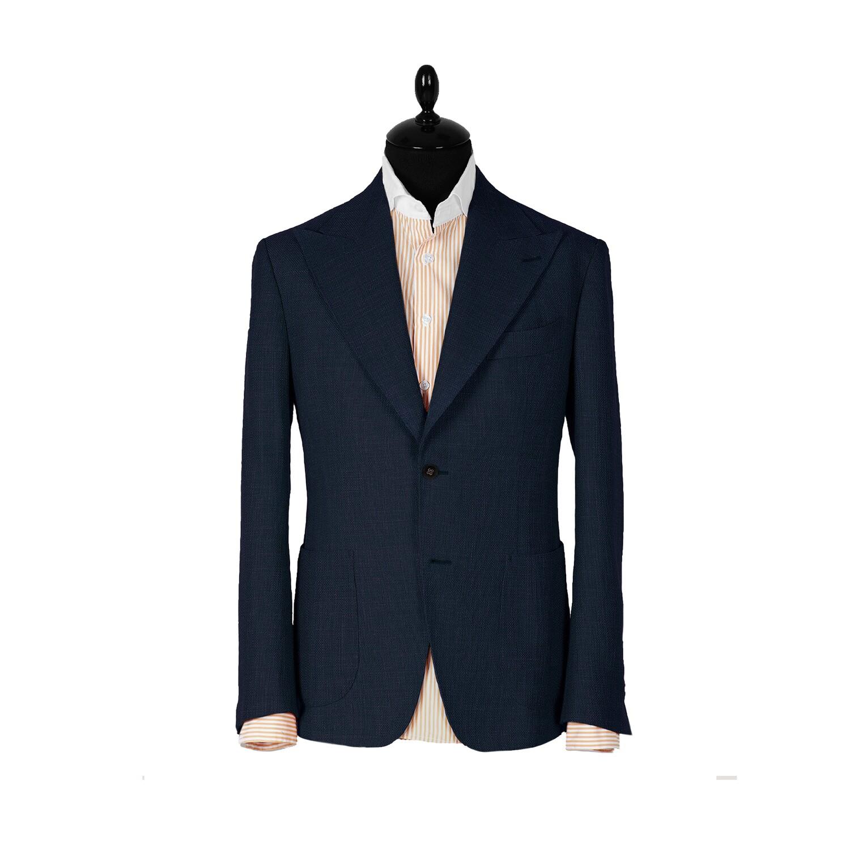 Однобортный темно-синий пиджак. Коллекция Havana