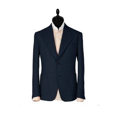 Dark-navy single breasted suit. Havana collection